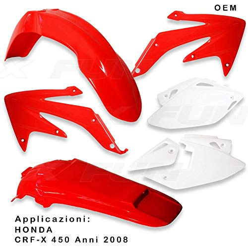 x-fun kit Plásticos HON crf 450X (2008) OEM Honda