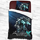 Foflytimi Xeno-Blade Chronicles 2 Piece Bedding Set,Bedding Ultra Soft and Easy Care (1 Duvet Cover and 1 Pillow Cover) 55'X83'