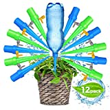 Upgraded Adjustable Self Watering Spikes. Indoor Outdoor Plastic Bottle Garden Plant Drip Irrigation Automatic Device Spike System. Works as Plants Watering Bulbs - Globes with Drip Control Valve.