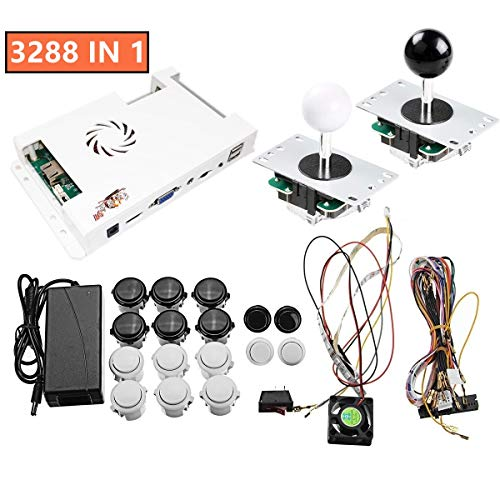 TAPDRA 3288 Multi Games Pandora's Box 9H Arcade Board 3D/2D Up to 4 Players Full DIY Kit with Internet Port Buttons Harness Cable