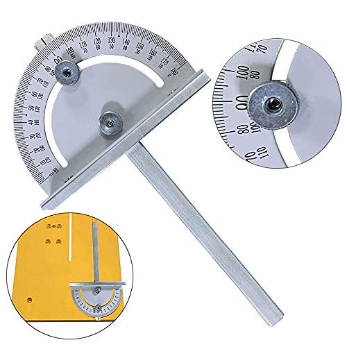 Herramientas de carpinteros, Herramienta de medición, Buscador de ángulo de esquina, Tractor, Herramienta de medición de cuadros, Mini Mini Mesa Circular Sierra de ángulo Regla Estilo T Protractores d