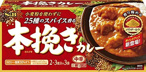 エスビー食品 本挽きカレー 中辛 97.5G ×6箱