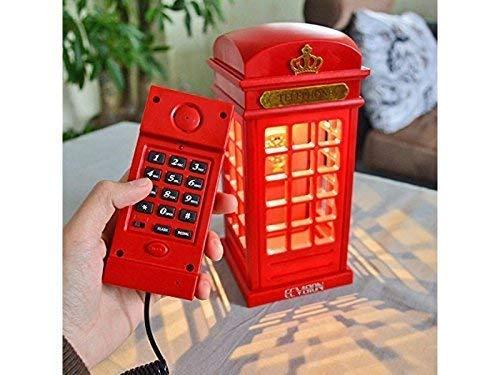 Pfiffig-Wohnen Telefon englische Telefonzelle mit Licht