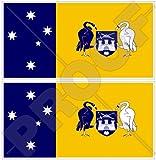 Vinyl-Aufkleber für Stoßstange, Motiv: australische Flagge von Canberra, 110 mm, 2 Stück