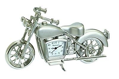 Sanis Enterprises Motorcycle Clock, 4-Inchx2.5-Inch, Silver by Sanis Enterprises