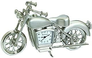 Sanis Enterprises Motorcycle Clock, 4-Inchx2.5-Inch, Silver
