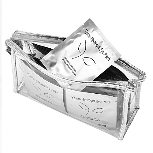 Wimpernverlängerung, 100 Paar Patches für Wimpernverlängerung Gel fusselfrei Pads Papierpflaster Grafted Eye Tips Aufkleber Wraps Make Up Tools