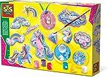 SES Creative- Moldear y Pintar Figura de Unicornios de fundición y Pintura, Color Mixto (01359)