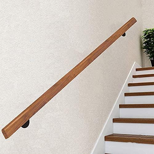 Corrimani in legno antiscivolo per scale da interno, corrimano di pino professionale Kit completo, scale senza barriere Grab bar per anziani, corridoio per la casa montato a parete ringhiera decking