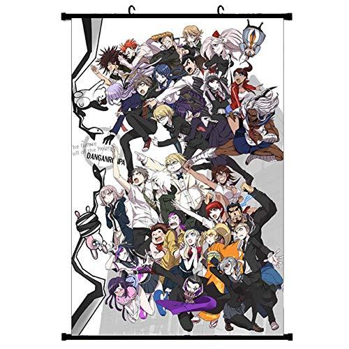 ALTcompluser Anime Poster Danganronpa Rollbild Kakemono Wallscroll Dekorative Wandbild Hängendes Plakat, Wand Zimmer Deko(40 × 60 cm Motiv 2)