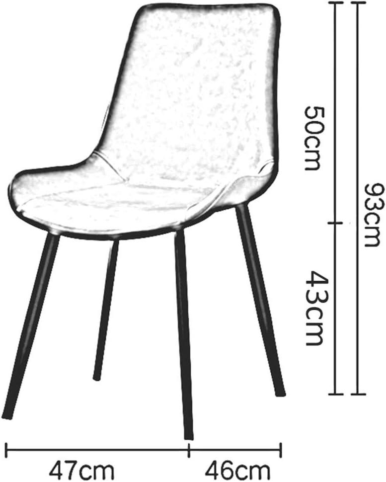 Chaise Nordique De Salle à Manger,Chaise De Table De Coussin D'unité Centrale avec Le Dossier,Chaise De Maquillage De Jambes en Métal,Créatif Moderne,47 × 46 × 93 Cm(Color:T1) T1