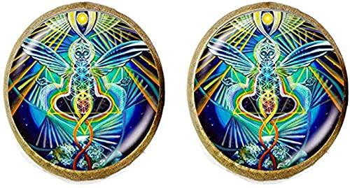 Nuevos pendientes de cristal de la geometría sagrada Mandala foto de la joyería de la manera regalos de