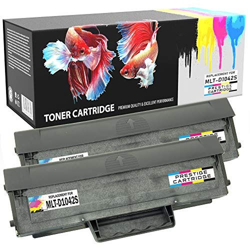 Prestige Cartridge D1042S - Pack de 2 cartuchos de tóner láser para Samsung ML-1660/ML-1665/ML-1670, negro