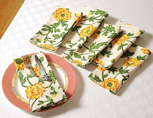 Floral Dîner coton serviettes - 20 \