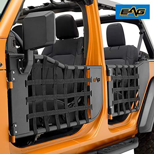 EAG Matrix Tubular Door Set with Side View Mirror Pair Fit for 2018-2020 Wrangler JL 4 Door Only