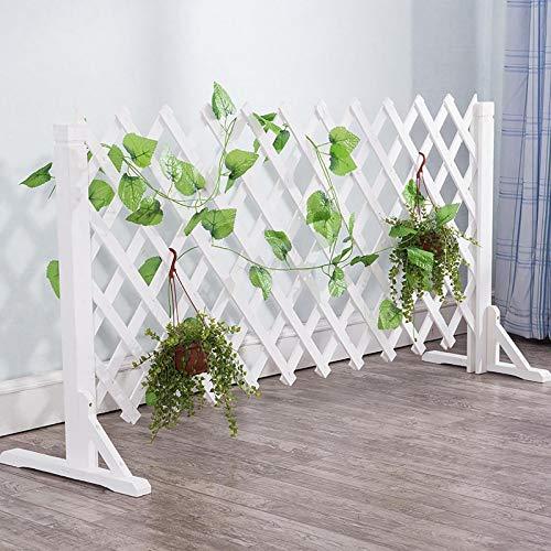 Extendible Holzzaun, freistehender Anlage Wachsender Support-Bildschirm mit diagonaler Unterstützung, kann for Gartenpartition/Yard-Dekoration/Guardrail-Sicherheitstür verwendet werden