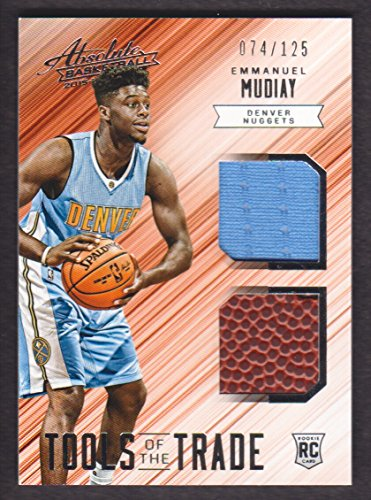 2015-16 Absolute Basketball Tools of the Trade Rookie Jersey Dual #7 Emmanuel Mudiay /125 Ball Nuggets