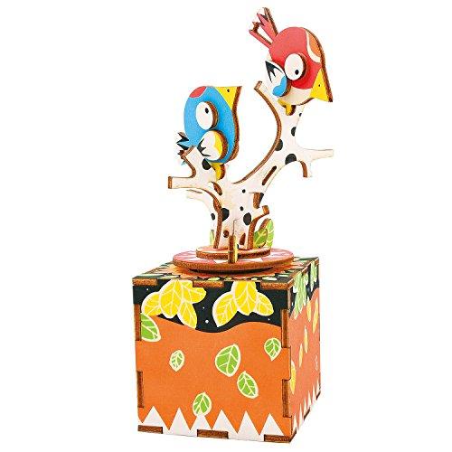 Robotime sterxy am3013D Holz Puzzle Musik Box, DIY Woodcraft, das Lied der Vogel und Baum