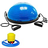 OcioDual Entrenador de Equilibrio 58cm Azul Bos Balance Trainer Fitball Pelota de Gimnasia Pilates Up con Inflador Unisex Adulto