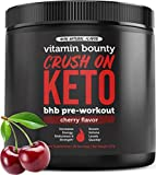Crush On Keto - Exogenous Ketone Keto BHB Pre Workout Powder Drink - 0g Sugar, 0g Carbs (Natural Cherry Flavor)