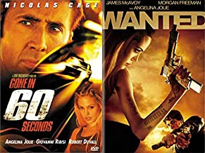 In Your Face Action Double Dip of Angelina Jolie: Gone in 60 Seconds & Wanted (DVD Bundle/ 2 Feature Films) Mel Gibson/ Liam Neeson/ Bruce Willis Come On Now!