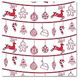 LA PAJARITA 40 Serviettes de Noël en papier décorées Pointe 40 x 40 cm Renno (Blanc)