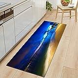 OPLJ Alfombras de Cielo Estrellado 3D Felpudo de Entrada Dormitorio Pasillo Decoración de Piso Alfombra Baño Absorber Agua Alfombra Antideslizante Hogar A12 40x60cm