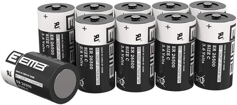 10X EEMB ER26500 Non-Rechargeable Lithium OFFicial half site 3.6V Li-SOCLâ Battery