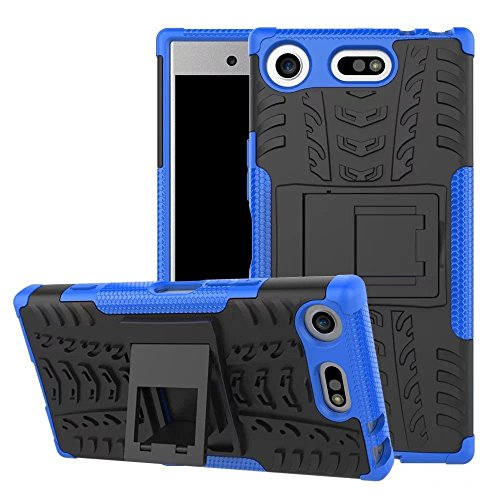 Lapinette Coque Compatible avec Sony Xperia XZ1 Antichoc - Coque Xperia XZ1 Protection AntiChocs - Protection Sony Xperia XZ1 Coque Antichoc Rigide Modèle Spider Bleu