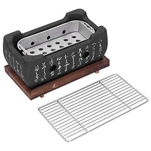 Parrilla de barbacoa japonesa Horno de barbacoa de interior Parrilla de carbón portátil de mesa Estufa de carbón para alimentos Estufa de barbacoa de carbón de aleación de aluminio para el hogar