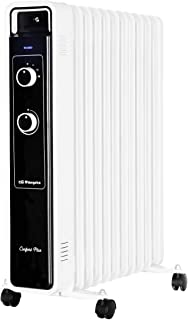 Orbegozo RJ 2500 – Radiador de aceite, 11 elementos, 2500 W, luz LED, termostato regulable, ruedas pivotantes