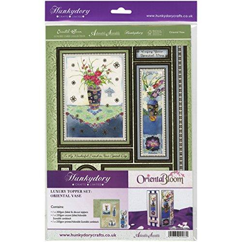 Hunkydory Crafts Orientalische Blumenvase A4-Orientalische Vase Luxus Topper Set