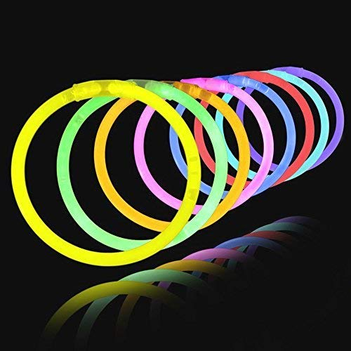 "8"" LumiStick Brand Glowsticks Glow Stick Bracelets Mixed Colors (Tube of 100) by Lumistick"
