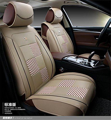 AMYMGLL Siège de voiture Four Seasons General Deluxe Seat Curable Matériau en cuir respirant Édition de luxe et édition standard 4 couleurs , A , 2