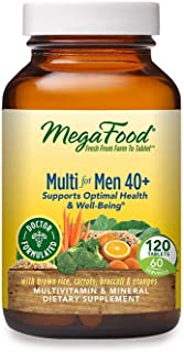 MegaFood, Multi for Men 40+, Supports Optimal Health and Wellbeing, Multivitamin and Mineral Supplement, Gluten Free, Vege...