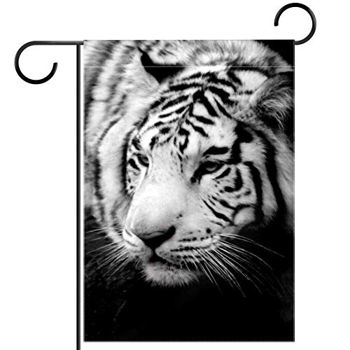 ART VVIES Garden Flag Outdoor Decoration Wildlife Siberian Tiger Animal 28x40 inch Small Double Sided Without Stand Yard