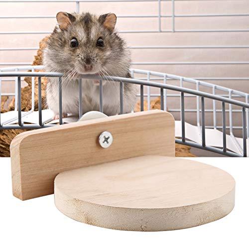 SANON Hamster Trampolín de Juguete Ardilla Plataforma de Madera Perchas de Loro...