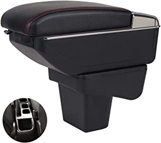 Oneuda Armrest Box for 2014-2018 Suzuki Vitara 2, Universal Armrest Retractable Centre Console Storage Box Car Accessories (Retractable, No USB Socket)