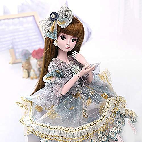 ZNDDB 23,6 Zoll 60cm realistisch Reborn Baby doll Austauschbare Kleidung/Mädchen Spielzeug/Kleinkind Weihnachtsgeburtstagsgeschenk