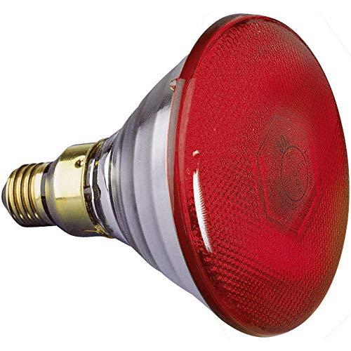 Halogen Lichteffekt Leuchtmittel Par-38 FL rot 88081505 E27 Leistung: 80 W Rot