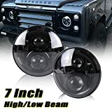 Defender 7inch LED Driving Headlight - Led Headlight With High Low Beam Car Driving Led Projector Replacement For Defender RHD 90 110 Headlamp 2pcs/Kit