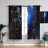 Matt Flowe Batman Knight Art - Cortinas térmicas con aislamiento...