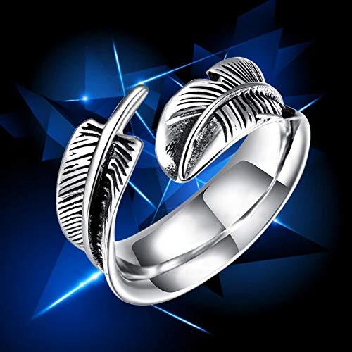 Anillo de plumas Anillo de hombre de acero de titanio de alta calidad, para amado novio(10#)