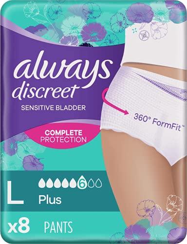 Always Discrete Pants Plus bij blaaszwak, maat L, enkele verpakking Large