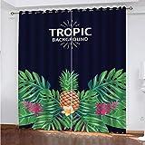 MENGBB Cortina Opaca Microfibra Infantil 110x140cm Fruta de arbusto Tropical 95% Opaca Cortina aislantes de frío y Calor Decorativa con Ojales Estilo para Salón Habitación y Dormitorio