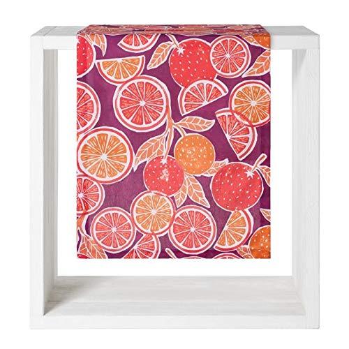 Proflax Tischdecke Nerine 50x140cm l Orangen l Orange Lila
