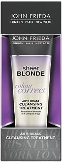 John Frieda Sheer Blonde Colour Correct Anti-Brass Cleansing Treatment, 4 Ounces