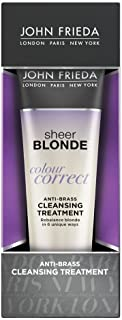John Frieda Sheer Blonde Colour Correct Anti-Brass Cleansing Treatment, 4 Ounces