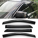 ZR 94806 4pcs for 2019-2020 Ram Crew Cab Pickup Sun Rain Vent Shade Guard Exterior Side Door Trim Window Visor Deflector