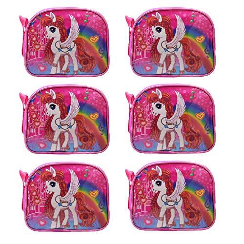 Asera Cartoon Character Sling Bag / Picnic Bag for Kids - Birthday Return Gifts for Girls / Boys (Little Pony / Unicorn)